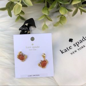 Kate Spade Shore Thing Pave Crab Earrings